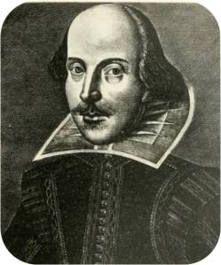 The portrait of William Shakespeare from the First Folio