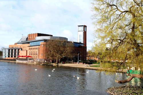 The Royal Shakespeare Theatre next to the River Avon