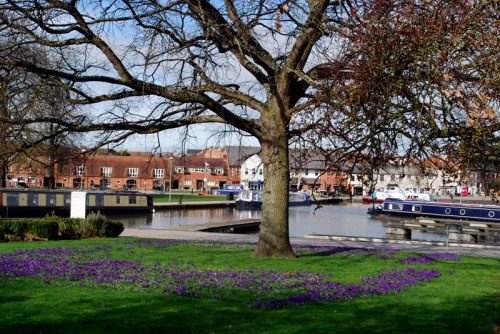 The Stratford upon Avon Canal basin