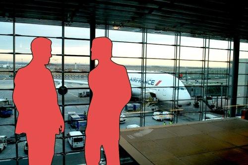 Airport conversation