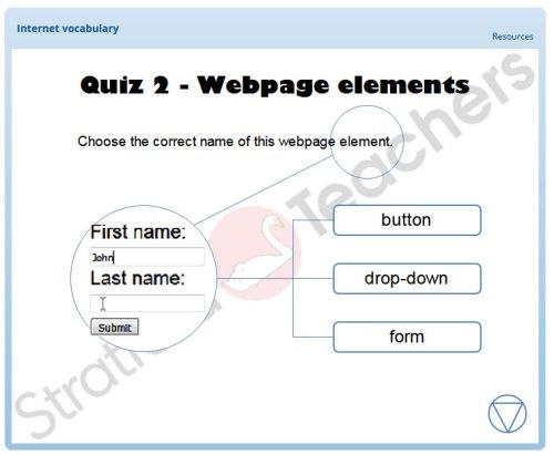 Internet vocabulary interactive exercise