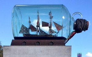 Ship in a bottle in Greenwich, London